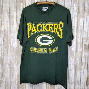 Vintage '98 Green Bay Packers T-shirt Large Green